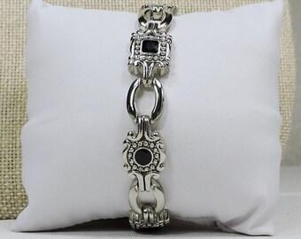Vintage Silver and Black Bracelet