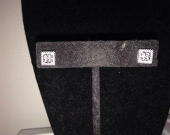 Genuine Moissonite & Sterling Silver Stud Earrings
