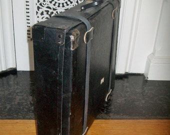 Vintage Postal Shipping Box Fiberboard Canvas Straps
