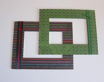 Black Stripe Matte, 5x7 Photo Mattes, Decorative Mattes, Mattes for Frame, 8x10 Print Matte, Industrial Decor, Matte Set, Industrial Mattes