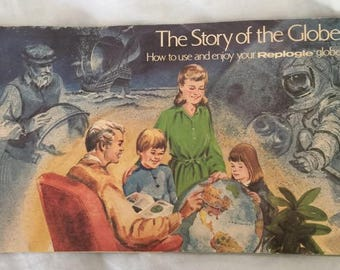 Vintage 1974 2 Replogle Globe Books  The Story of the Globe How to Use and Enjoy plus  The Story of World Ocean Globe