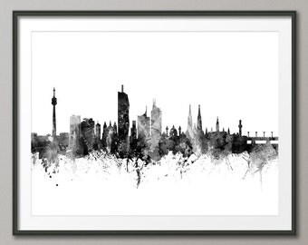 Vienna Skyline, Vienna Austria Cityscape Art Print (2692)