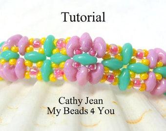 Beading Pattern,Jewelry Pattern,Beadweaving Tutorial,PDF,Seed Bead Tutorial,Beading Instructions,SuperDuo Tutorial,Seed Beads, MyBeads4You