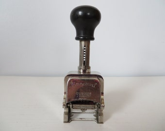 Antique Commercial Brand Numbering Stamp Machine