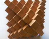 Octahedron Wooden Puzzle or Physical Brain Teaser