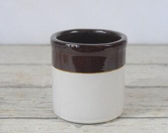 Vintage/Antique RRP Roseville Stoneware Crock Brown Over Tan Salt Glazed Crock