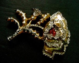 1940s Elegant Flower Spray brooch