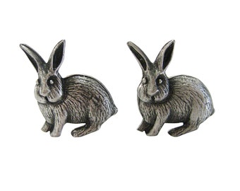 Textured Rabbit Hare Cufflinks