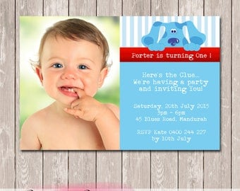 Blues Clues Birthday Invitation - YOU PRINT