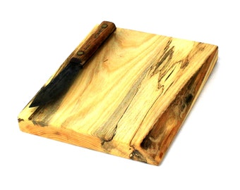 """Rustic Chopping Board - Spalted Silver Maple - Ready to Ship - 10""""x8-1/4""""x1"""""""