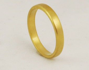 2.5mm Classic Solid Gold Wedding Band / Solid 14k 18k 22k 24k Gold / Yellow Rose or White Gold
