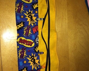 Super Power fabric - Crayon roll