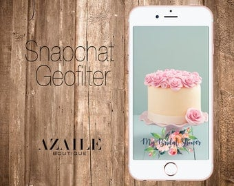 Watercolor Flowers Geofilter Perfect for Bridal Shower