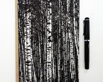 """Notebook """"Birch"""" - blank, A5, ecofriendly, handmade + zero waste"""