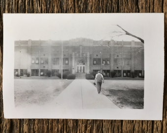 Original Vintage Photograph Path to Education