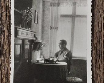 Original Vintage Photograph Solitary Man