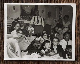 Original Vintage Photograph Festive Family Bonding