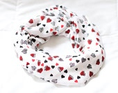 Valentine Hearts Infinity Scarf (Adult, Mommy & Me)