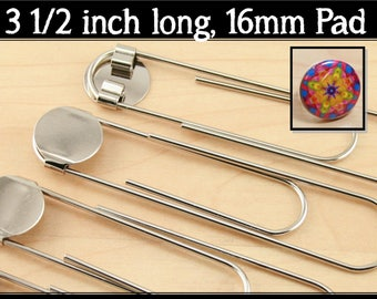BULK Sale 1000 - DIY Jumbo Paper Clip BookMarks. 3 1/2 Inch in Length. 16mm Attached Glue Pad.