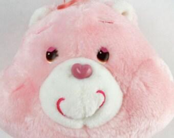 "Vtg Kenner 1984 Care Bears 13"" LOVE A LOT Bear Plush Stuffed Animal Original"