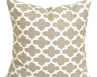 Tan PILLOW Sale,14x14 inch.Pillow Covers.Decorative Pillows.Housewares, Ecru Tiles Neutral.Cushion.Pillow.Taupe.Cushion.Tan Pillow.cm