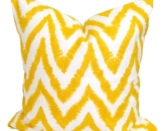YELLOW PILLOW.14x14.Chevron Decorative Pillow Cover.Decorative Pillow Cover.Housewares.Home Decor.Yellow Pillow.Chevron.cm.ZigZag.Pillow