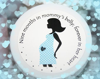 Baby Shower Favors - Unique Baby Shower Favor - Pregnancy Silhouette - Whipped Body Butter, Boy Shower Favor, Baby Boy