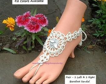 Love It Crochet Barefoot Sandals Beach Wedding Shoes SIZED Lovebird Women's Foot Jewelry Boho Chic Sandal Beach Barefoot Toe Ankle Sandles