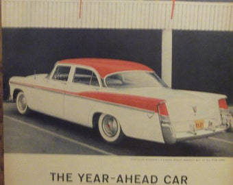 1956 CHRYSLER WINDSOR 4-Door Sedan Antique Automobiles Vintage Cars Original Vintage Ads Additional Ads Ship FREE Ready To Frame
