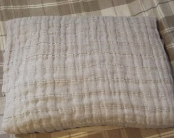 Natural Linen Bed Cover. Linen Throw. Stonewashed linen blanket. Linen bedspread. Linen beach blanket.