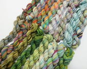 How Green was my Valley - 16  Sock yarn miniskeins, 12 yds each