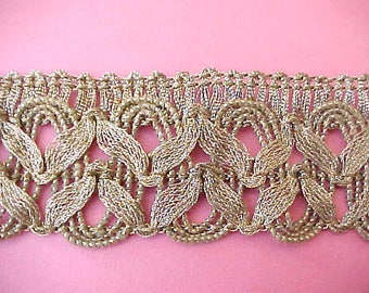 Gorgeous 1920's Metallic Gold Trim Sold by the Yard-Old Store Stock