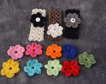 Changable Flower Headband -your choice four flower colors included