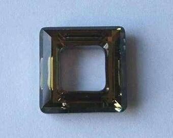 1 SWAROVSKI 4439 Cosmic Square Crystal Bead 20mm TABAC