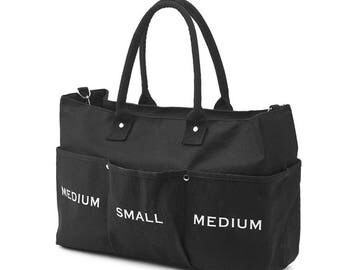 New Canvas Messenger and Tote Bag(Black)