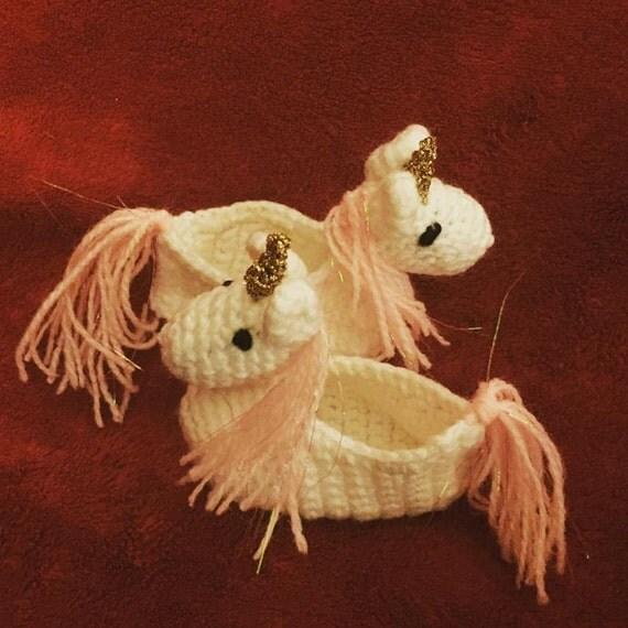 Unicorn Knitting Pattern Uk : Unicorn slippers crochet pattern