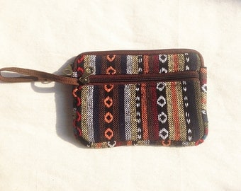Handmade Tribal Zippered Pouch/Pencil Pouch