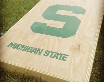 Michigan State University Corn Hole Decal Sticker Set FREE SHIPPING