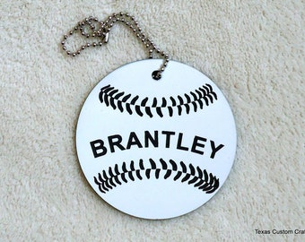 Bat Bag ID Tag, Baseball Bag ID tags, Identification Tags, Luggage Tags, Backpack ID Tag, T-Ball Bag Tag