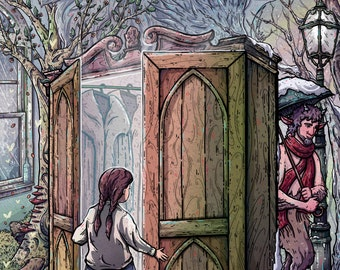 Lucy's Discovery Custom Narnia Illustration Giclée Print