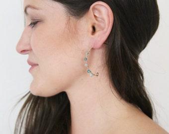 Sale! Half Moon Earrings, Gold Hoop Earrings