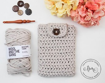 PDF Crochet Pattern - Herringbone Tablet Cover for 8 Inch Tablet