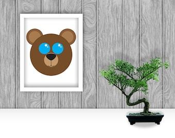 Bear Digital Art Print