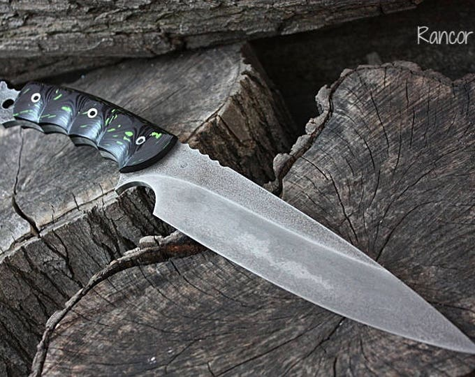 "Handcrafted FOF ""Rancor"" Full Tang tactical and survival blade."