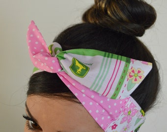 My John Deere Hair bow, headband, Dolly bow head bands, head band, hair bow