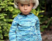 Lovely and soft New Zealand Merino, Alpaca and Possum mix Cardigan  for Vintage Sasha Doll