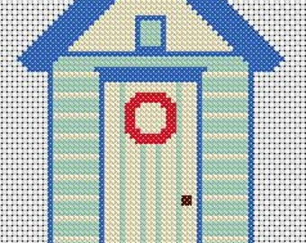Beach Hut - Cross Stitch pattern