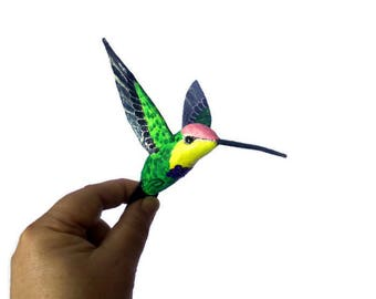 hummingbird art papier mache bird sculpture colibri ornament