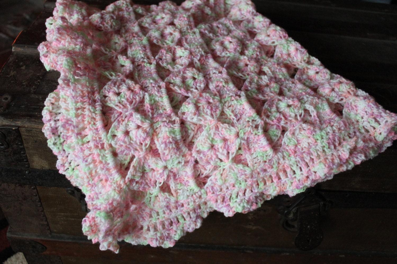 Crochet Patterns For Baby Clouds Yarn : Baby Blanket Handmade Crocheted Baby Sport Yarn