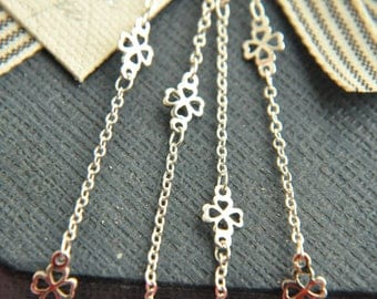 2 meter raw Brass  plating silver    handmade chain